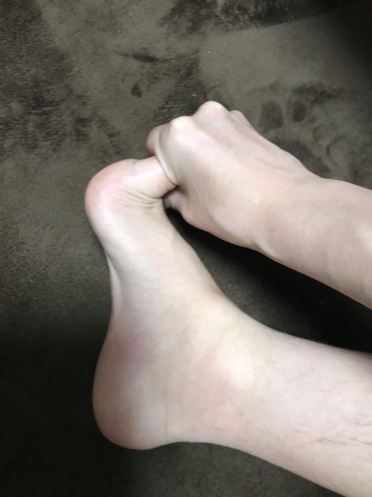 足底腱膜のストレッチ