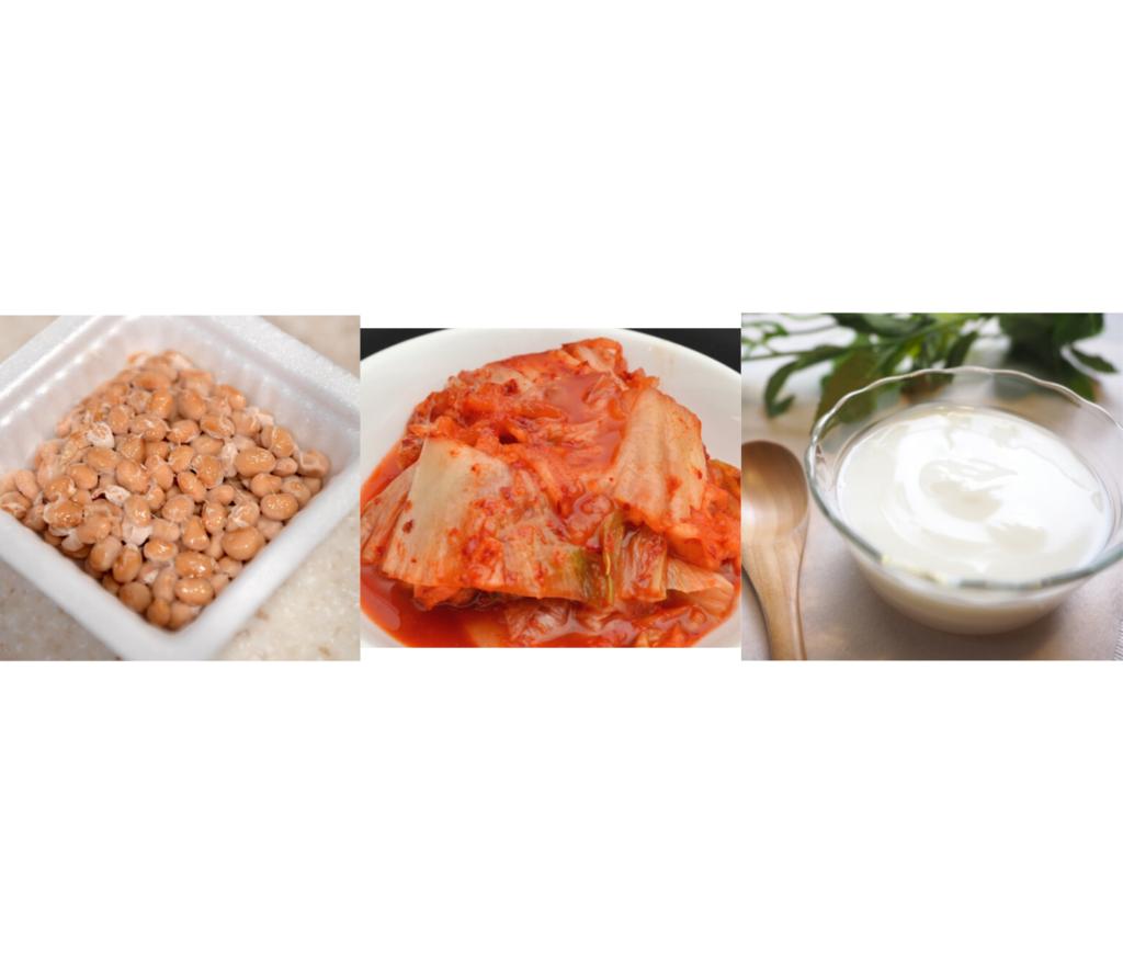 キムチ+納豆+ヨーグルト