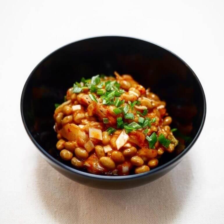 【簡単30秒】キムチ納豆