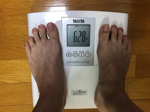 もぎたて生スムージダイエット20日目の体重