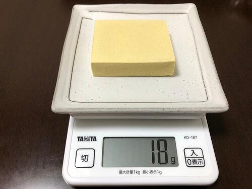 高野豆腐1枚分の重さ