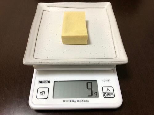 高野豆腐1/2枚分の重さ