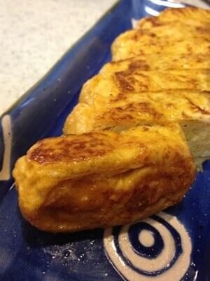 ツナ缶汁で作った卵焼き